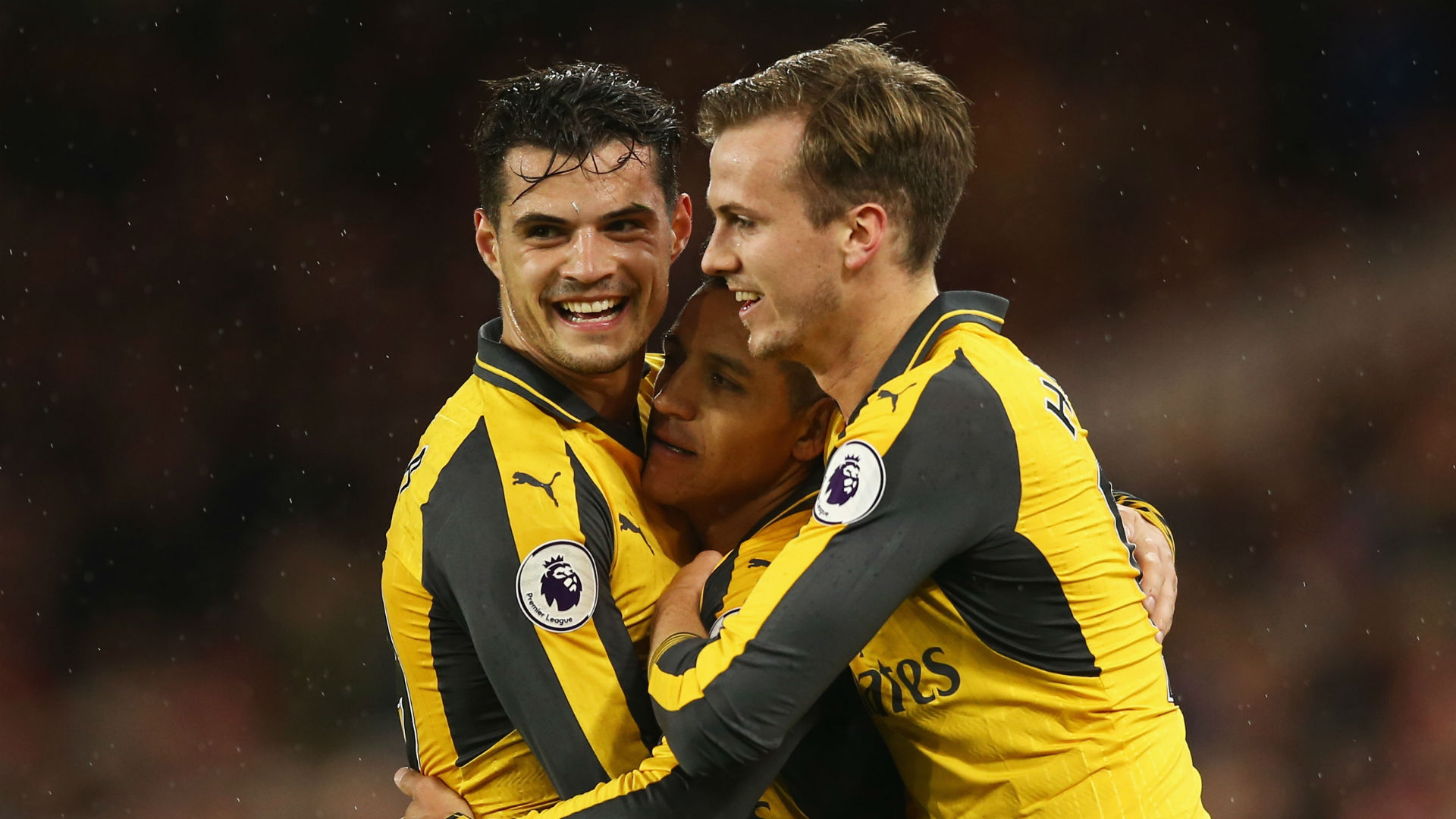 Alexis Sanchez Granit Xhaka Rob Holding Arsenal