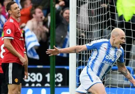 Huddersfield condemn Man Utd to first league defeat