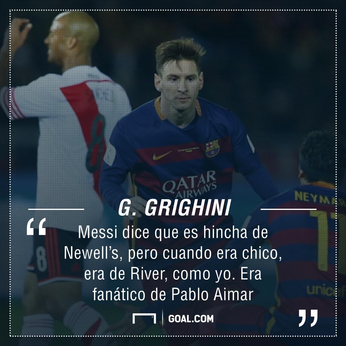 Revelan de qué club es hincha Messi