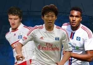 Eine Mannschaft gespickt mit Weltklasse-Spielern und vielversprechenden Youngstern: Ohne Abgänge wäre der HSV eines der Top-Teams der Bundesliga. Hier kommen die Spieler, die schon einmal für den Bundesliga-Dino aufgelaufen sind.