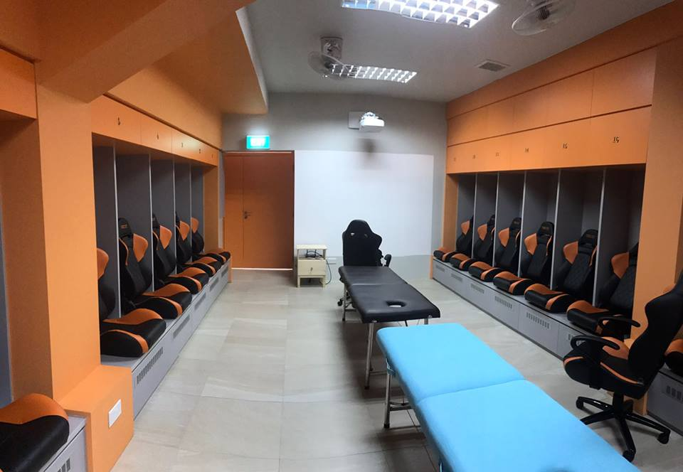 Hougang United dressing room