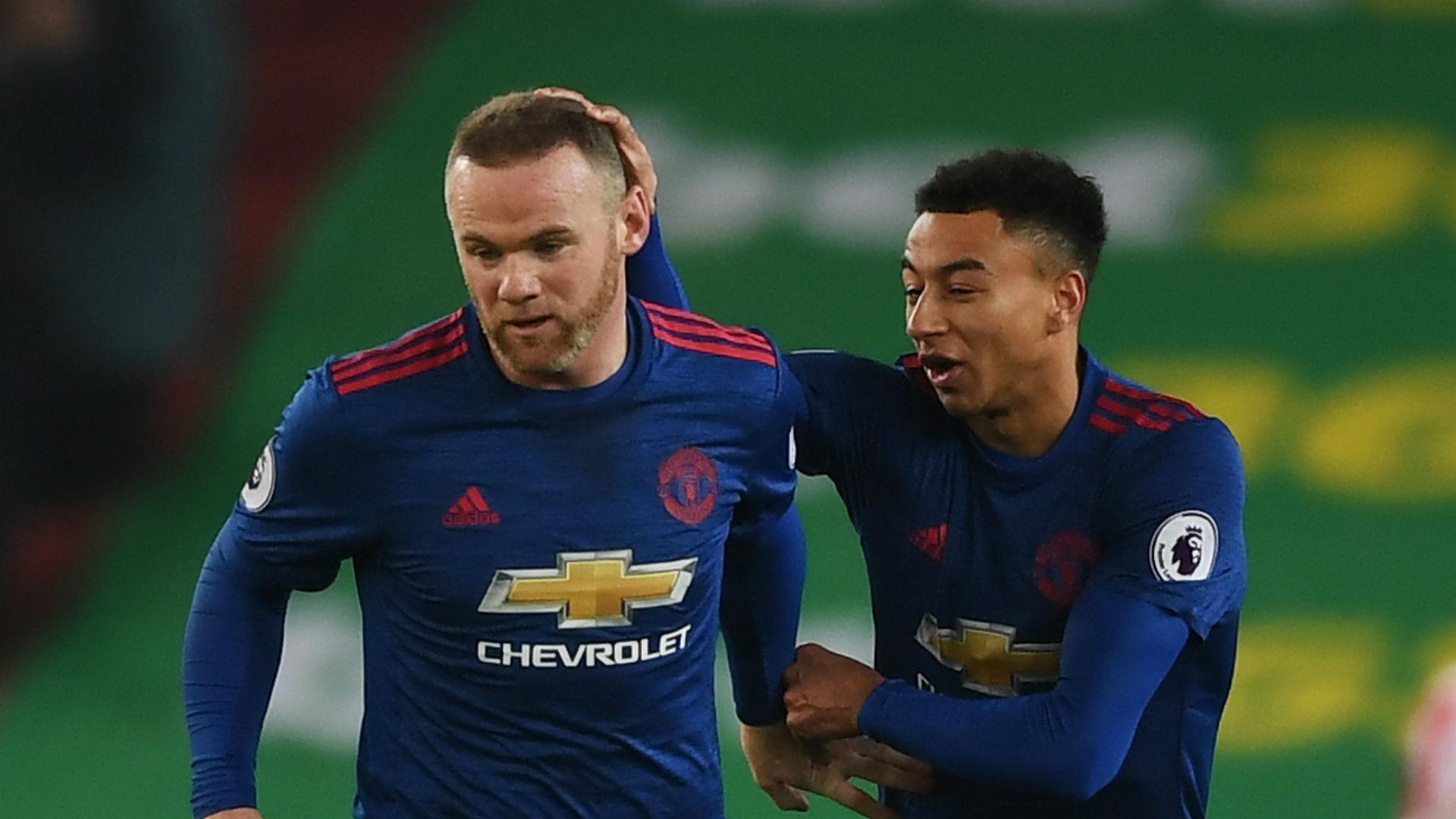 Wayne Rooney Jesse Lingard Manchester United