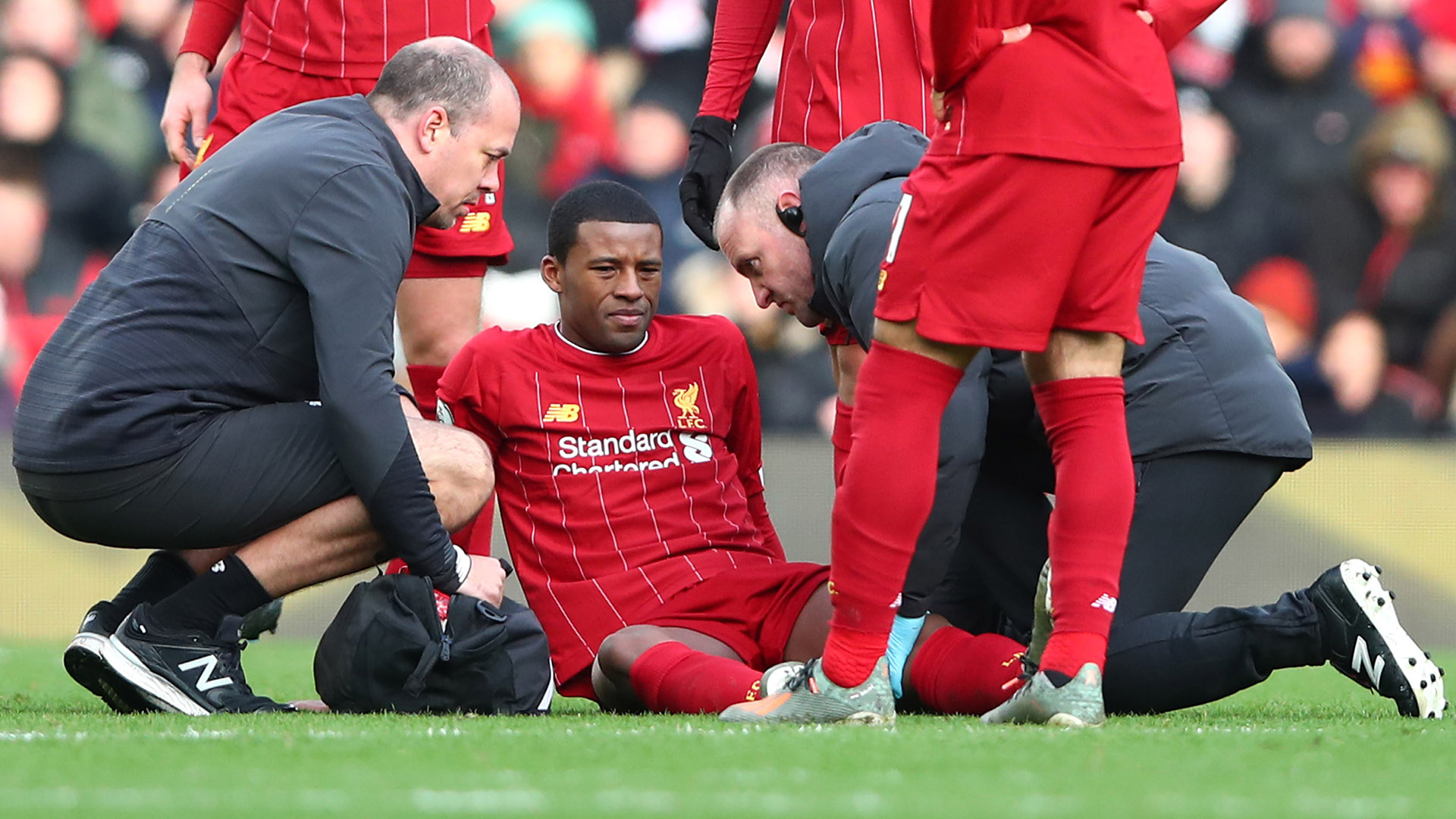 Wijnaldum limps off during Liverpool's clash with Watford due to apparent hamstring injury