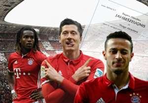 Die Saison 2016/17 ist für den FC Bayern München vorbei. Welche Spieler haben überzeugt, welche Akteure enttäuscht? Das Goal-Spielerzeugnis.
