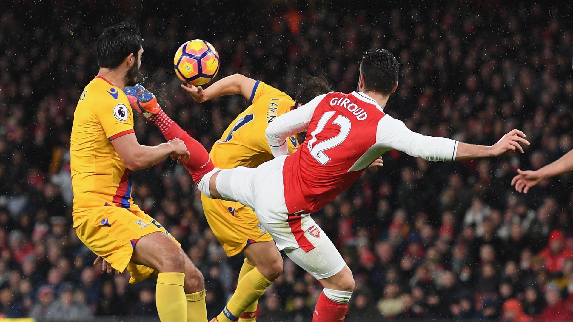 Olivier Giroud, Arsenal vs Crystal Palace, scorpion kick