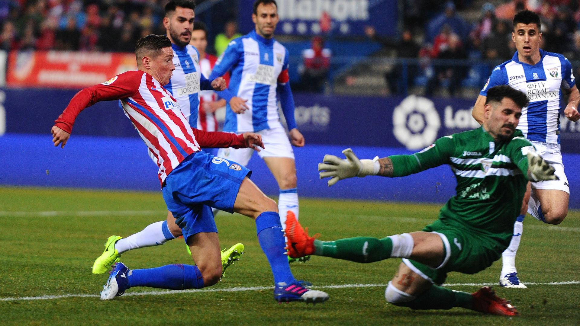 شهدت تالق توريس أتلتيكو مدريد يهزم ليجانيس بهدفين<br />