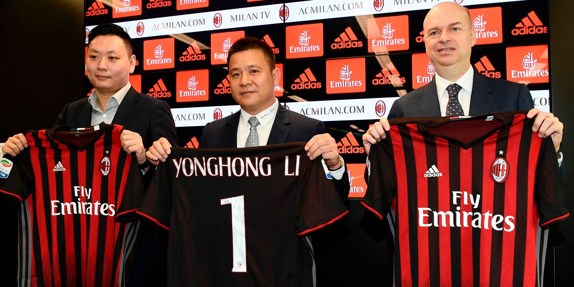 Han Li Yonghong Li Marco Fassone Milan