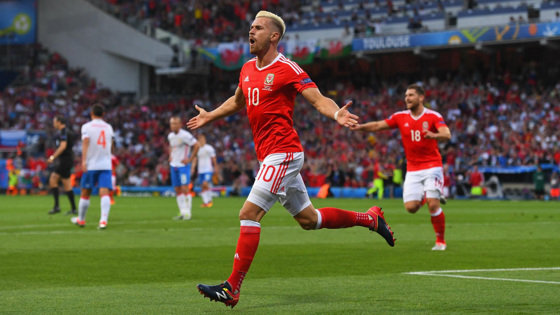 Aaron Ramsey Euro 2016 Wales v Russia