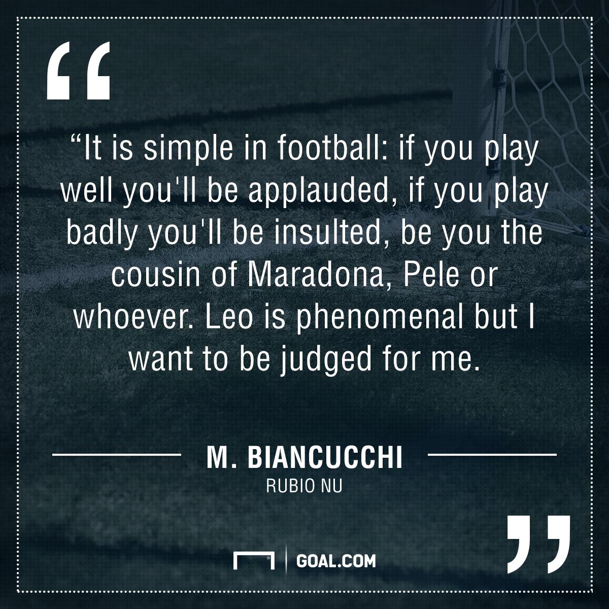 Biancucchi quote