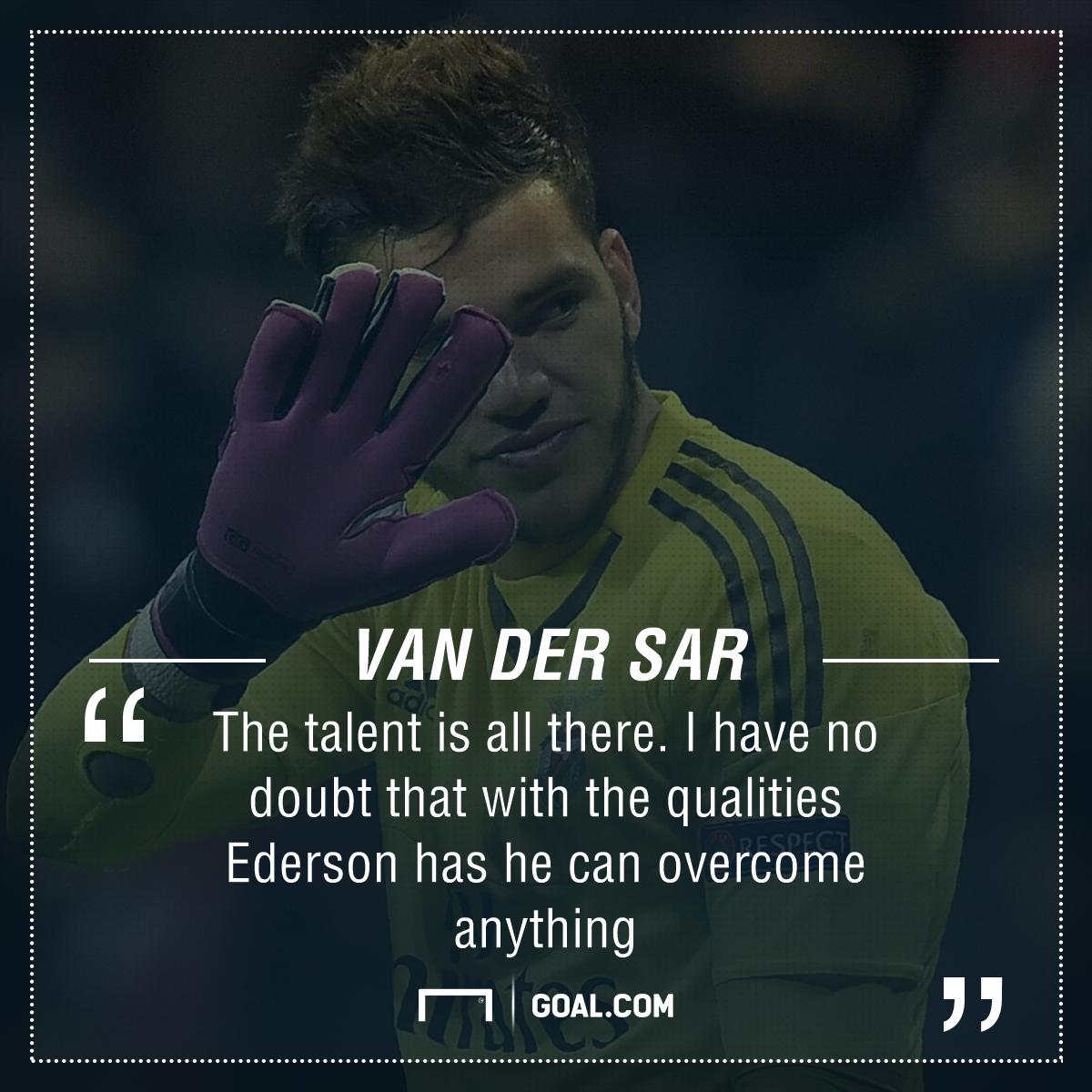 GFX Info Ederson Moraes Benfica Van der Sar quote
