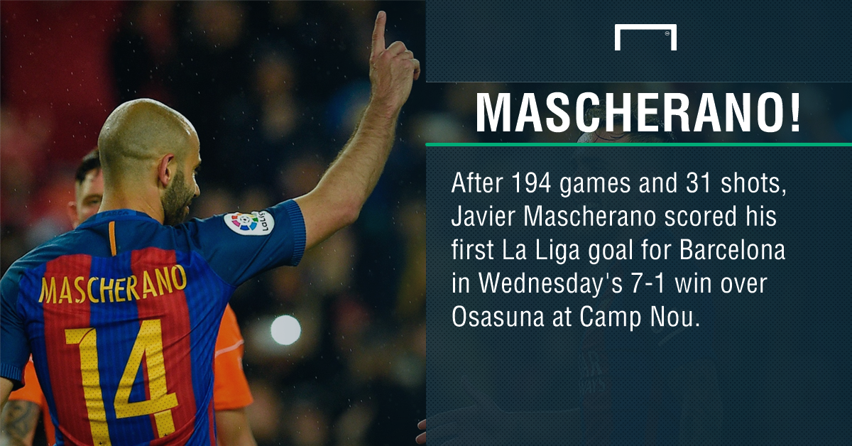 Javier Mascherano Barcelona goal PS