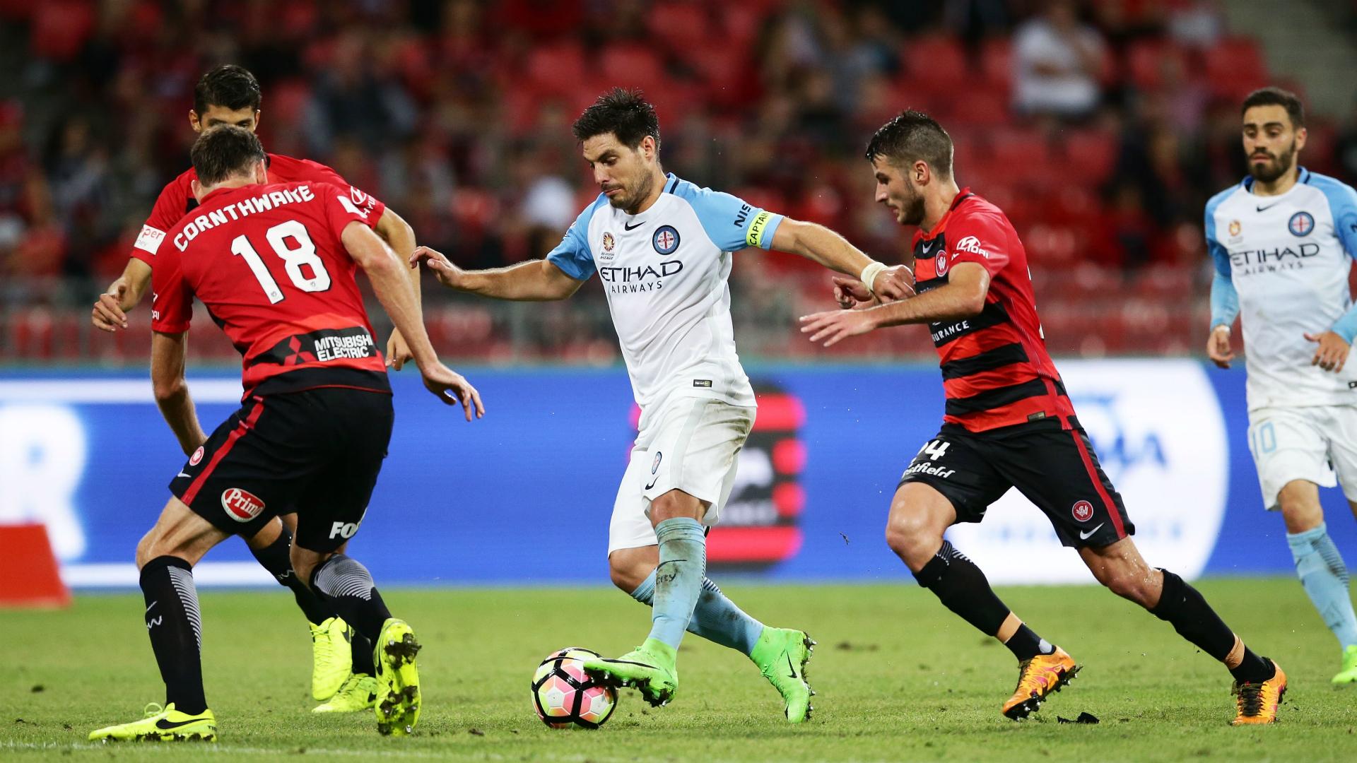 Bruno Fornaroli Western Sydney Wanderers v Melbourne City A-League 24032017