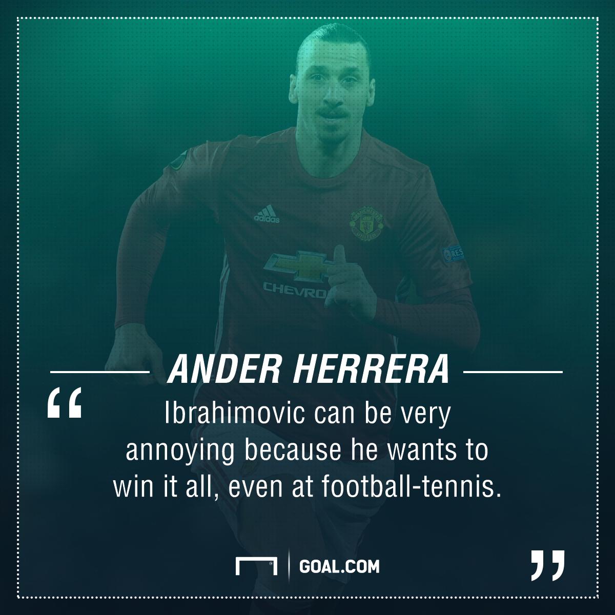 Ander Herrera Zlatan Ibrahimovic