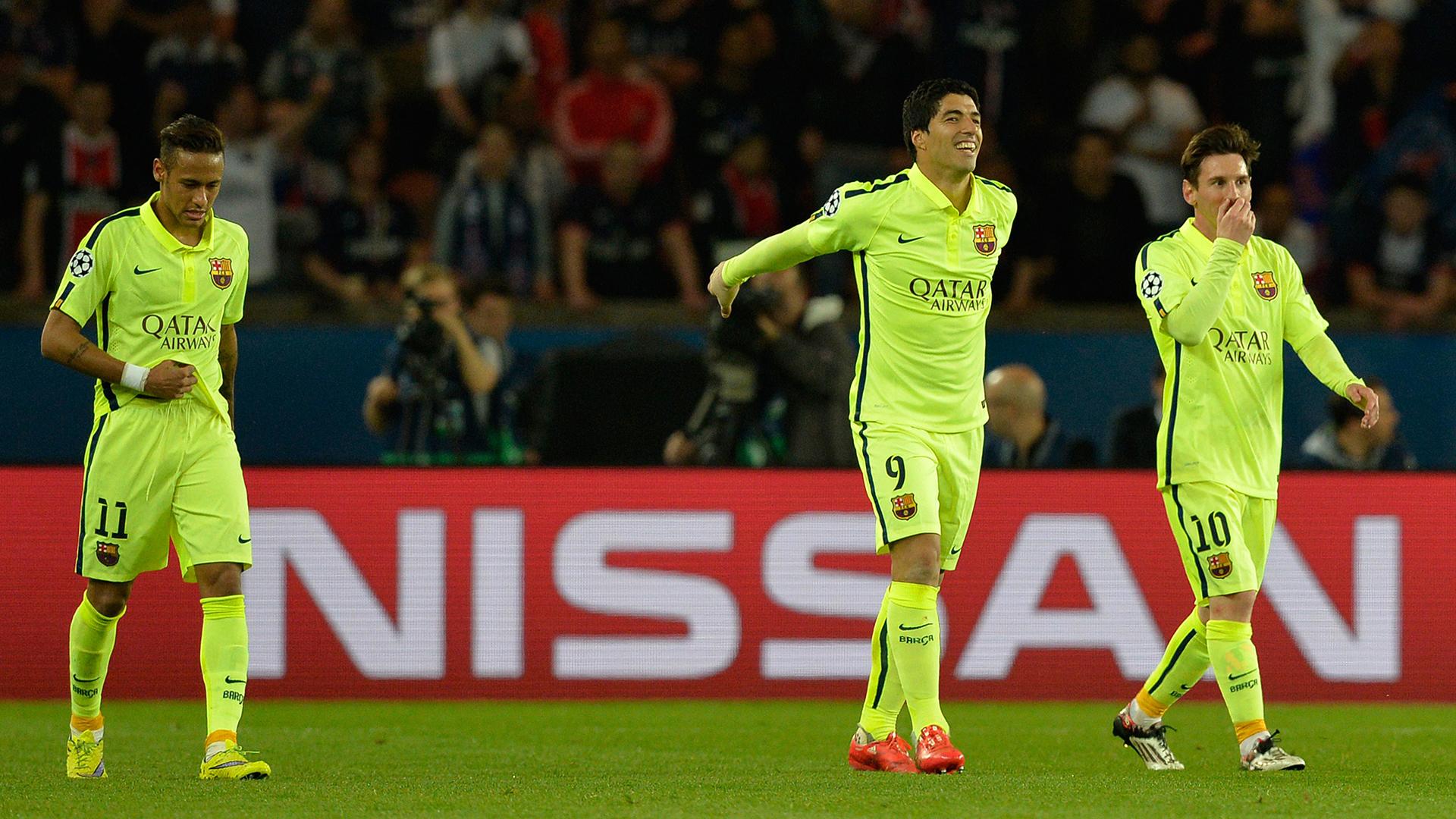 Messi Suarez Neymar Barcelona Paris Saint-Germain