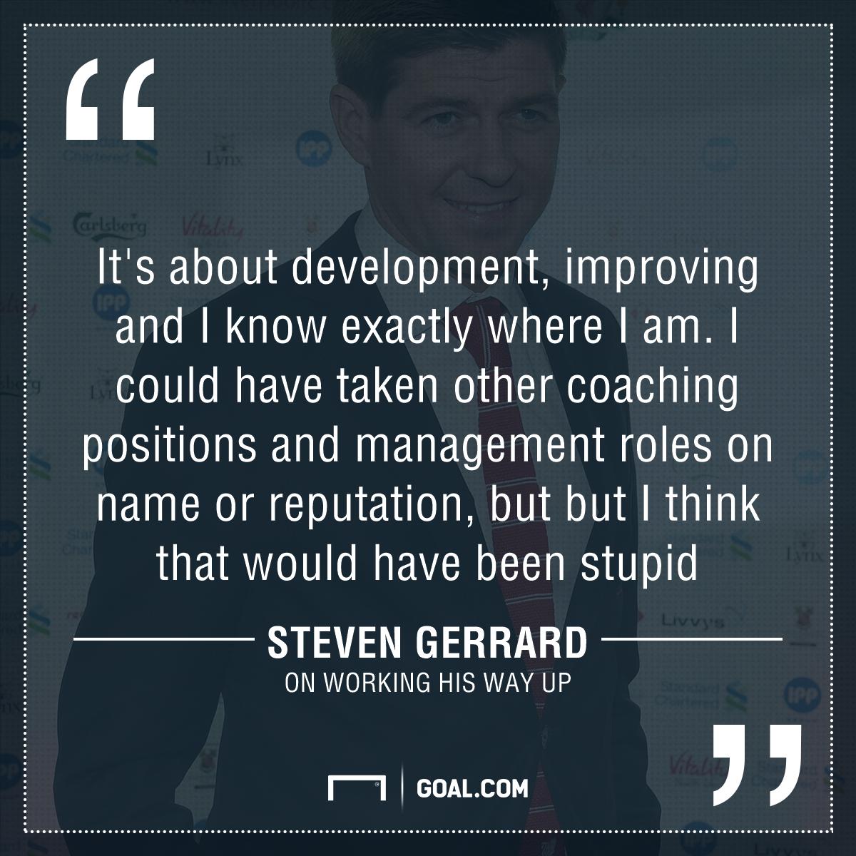GFX Steven Gerrard quote management