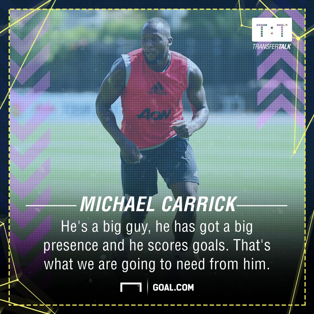Michael Carrick Romelu Lukaku Manchester United