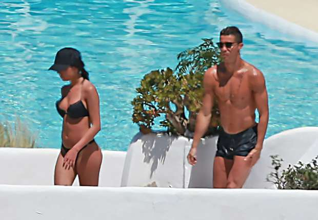 Cristiano Ronaldo Frolics With Girlfriend Georgina