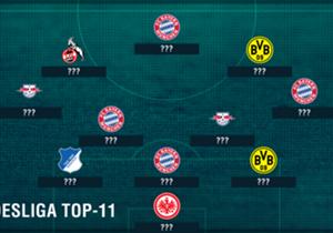 Die Bundesliga-Saison 2016/17 ist zu Ende und die Spieler haben wieder alles gegeben. Goal zieht Bilanz und zeigt Euch unsere Top-11 des Jahres.