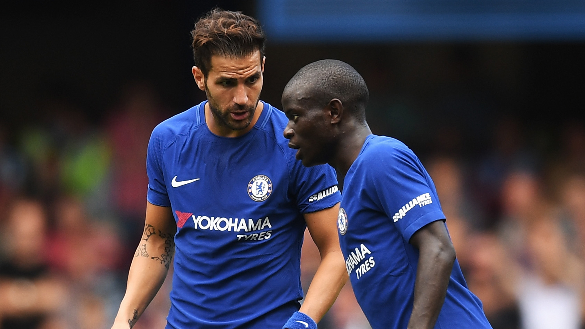 Cesc Fabregas N'Golo Kante Chelsea