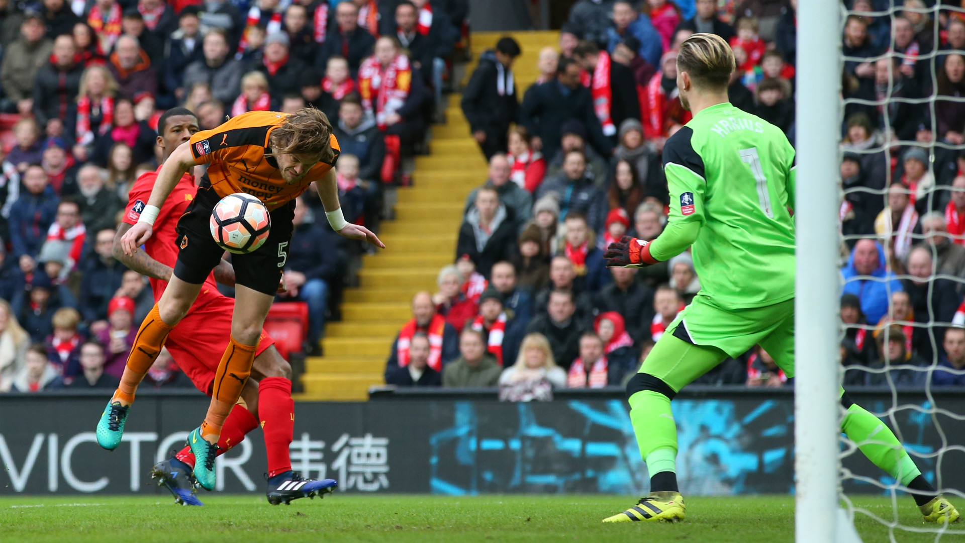 HD Richard Stearman scores v Liverpool