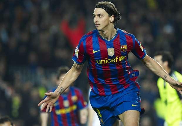 Zlatan Ibrahimovic svoj je prvi gol za Barcu zabio u trećem nastupu