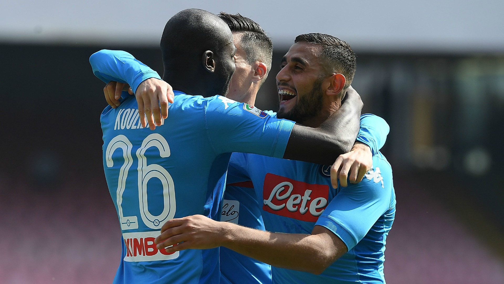 Champions League Napoli Defenders Koulibaly And Ghoulam On