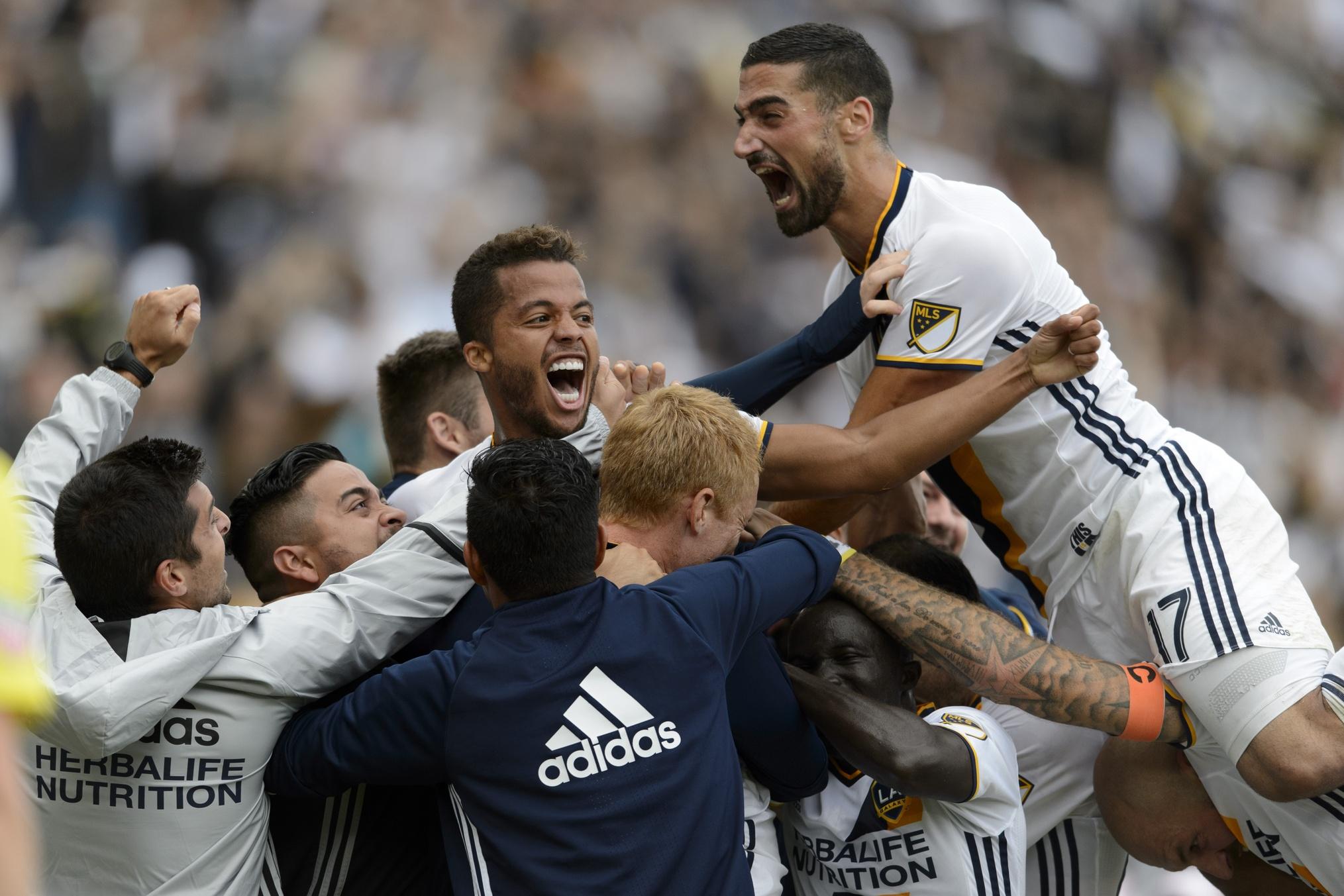 LA Galaxy celebration 201