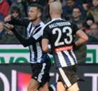 Serie A: Udinese 2-1 Milan