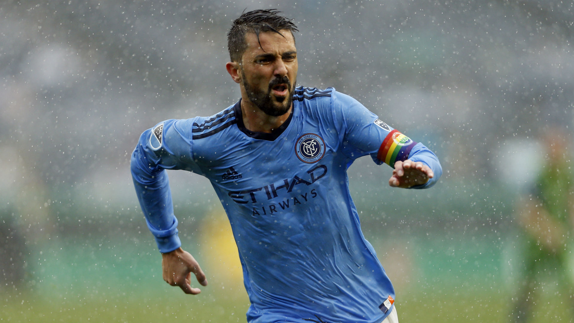 Villa shines in the rain with double to reach 50 goals in MLS