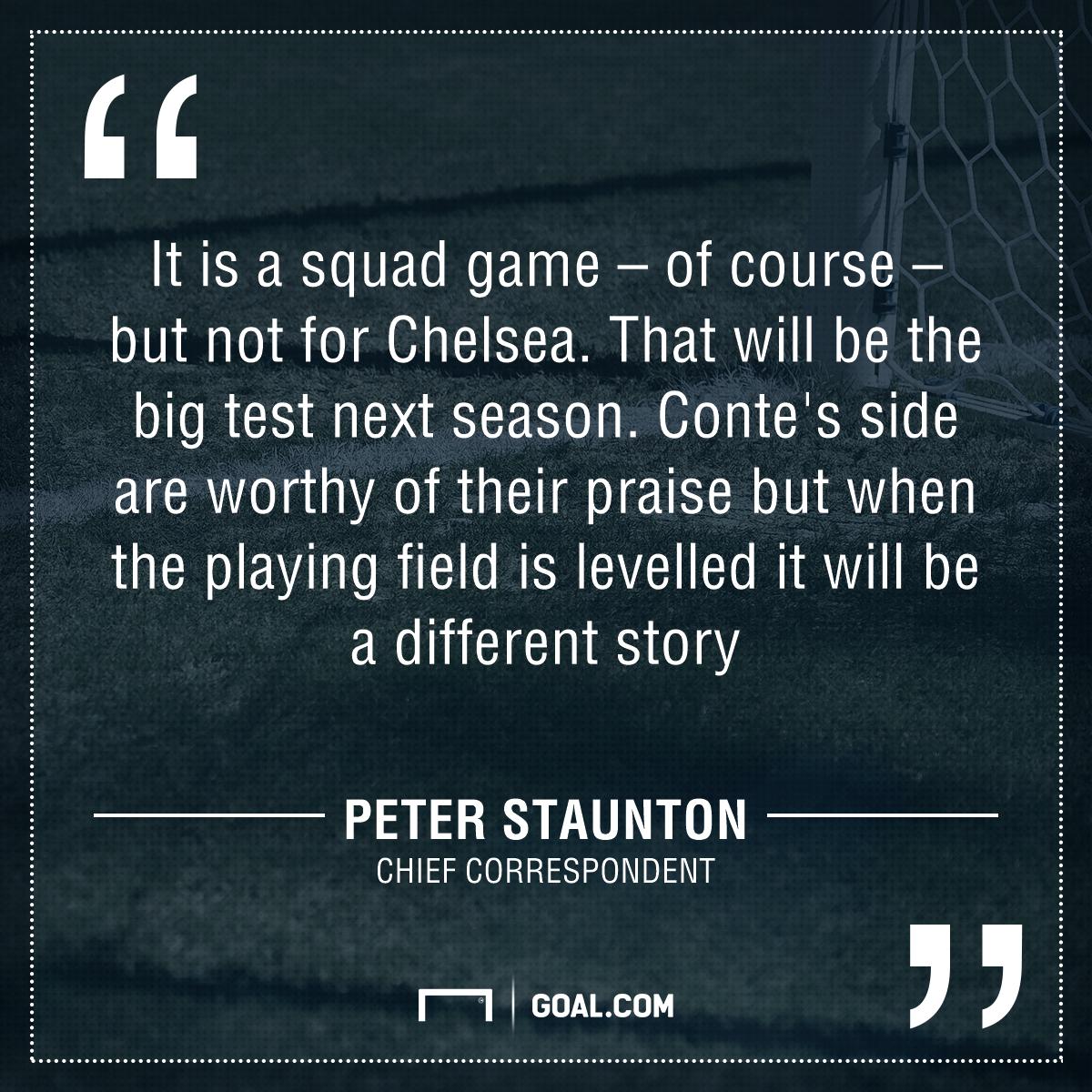 Staunton Chelsea quote