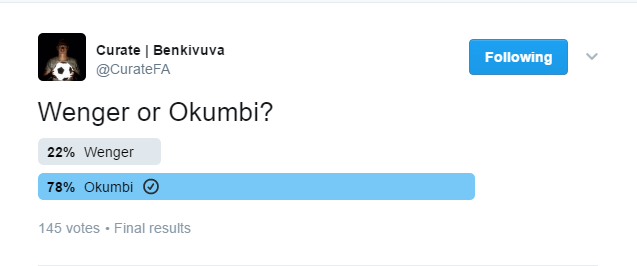Wenger v Okumbi poll