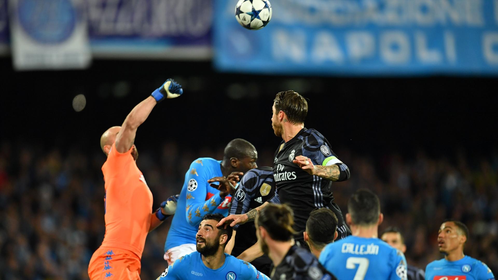 Pepe Reina Sergio Ramos Napoli Real Madrid