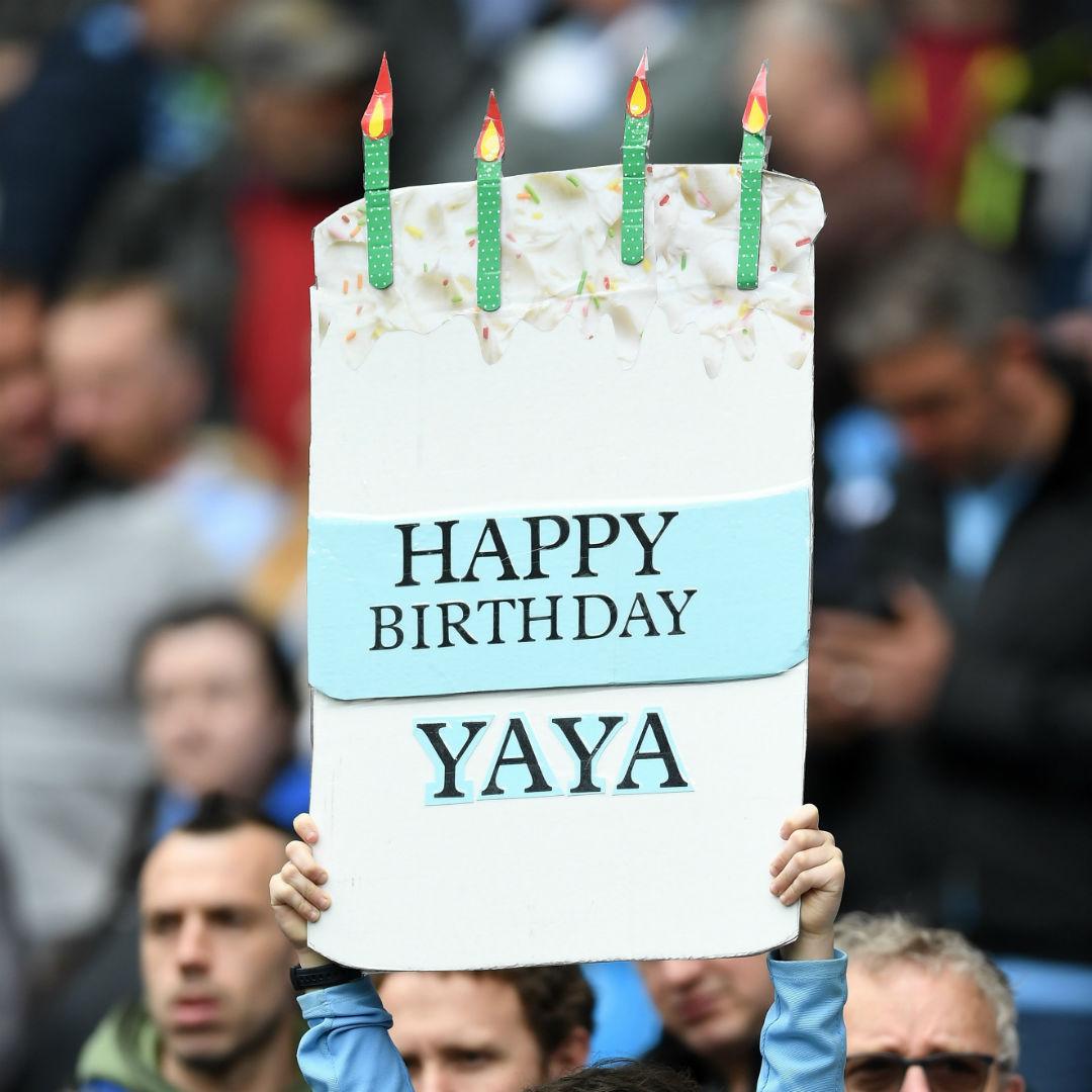 Yaya Toure birthday sign (SQUARE)