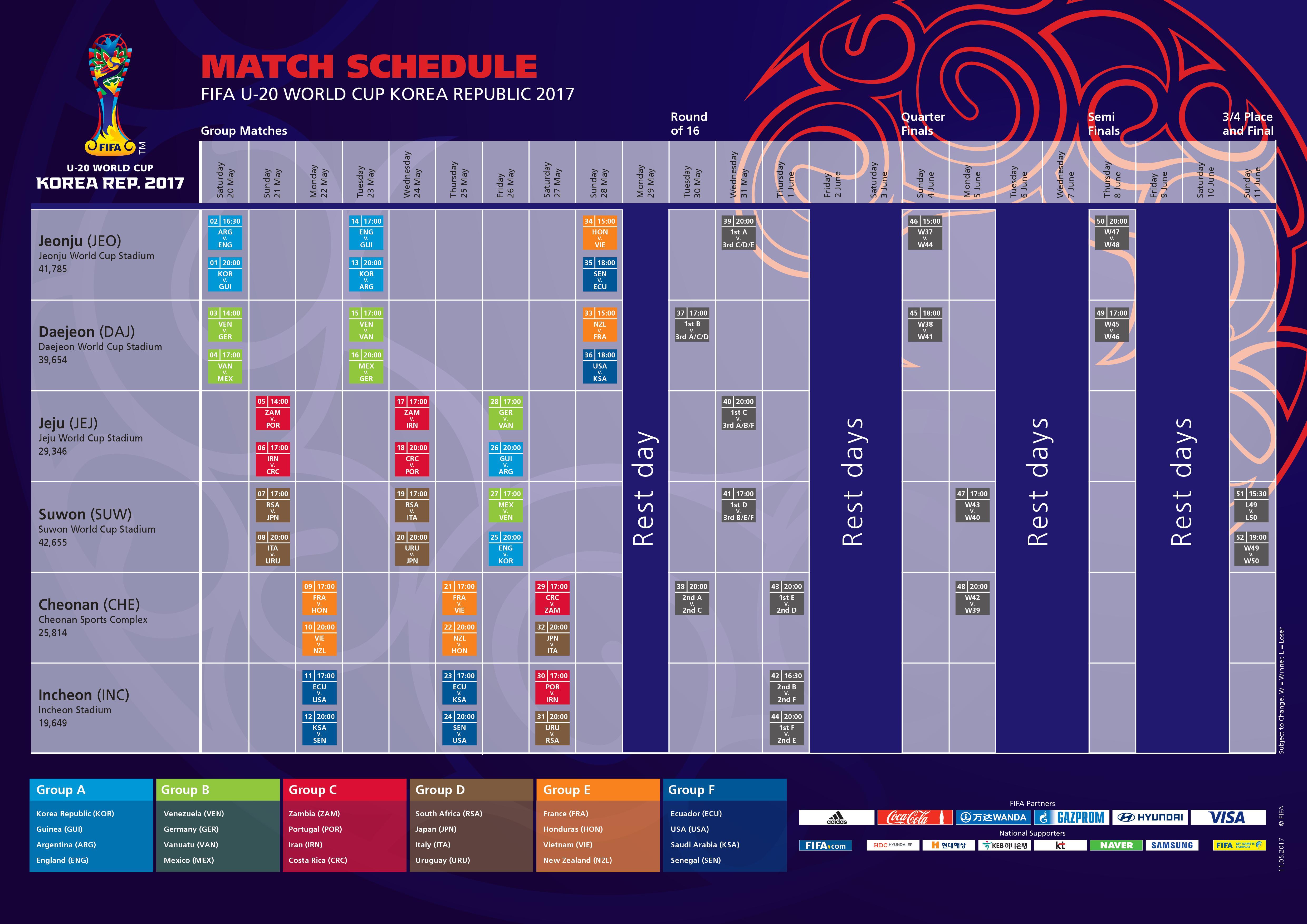 Calendario Mondiale U20