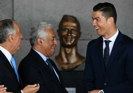 Bizarre Ronaldo bust unveiled