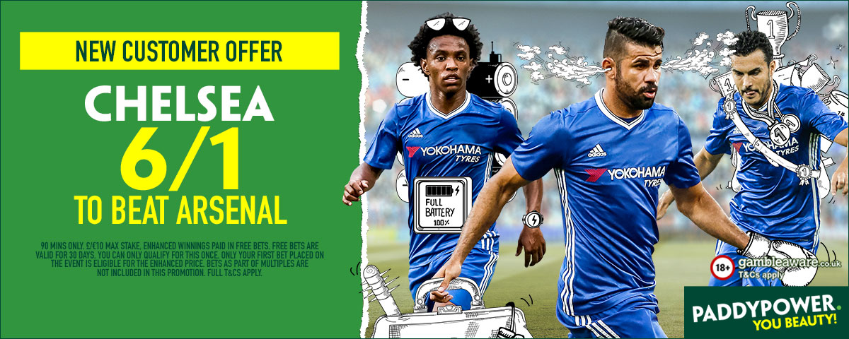 GFX Arsenal Chelsea enhanced betting