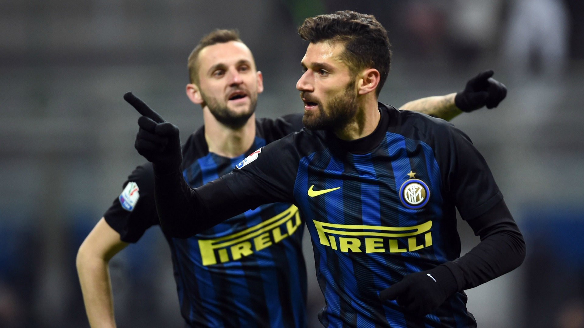 Antonio Candreva Marcelo Brozovic Inter Bologna Coppa Italia