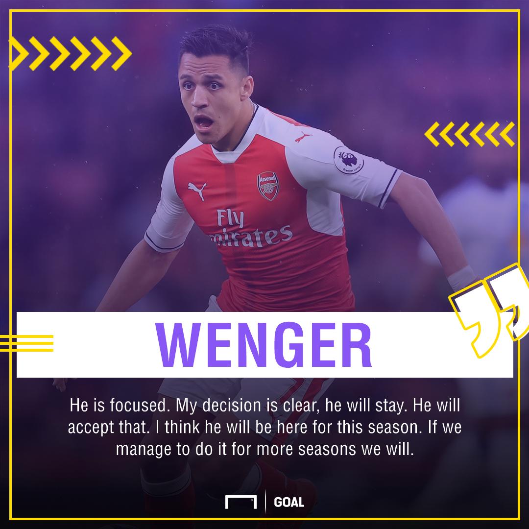Alexis Sanchez Arsene Wenger Arsenal stay
