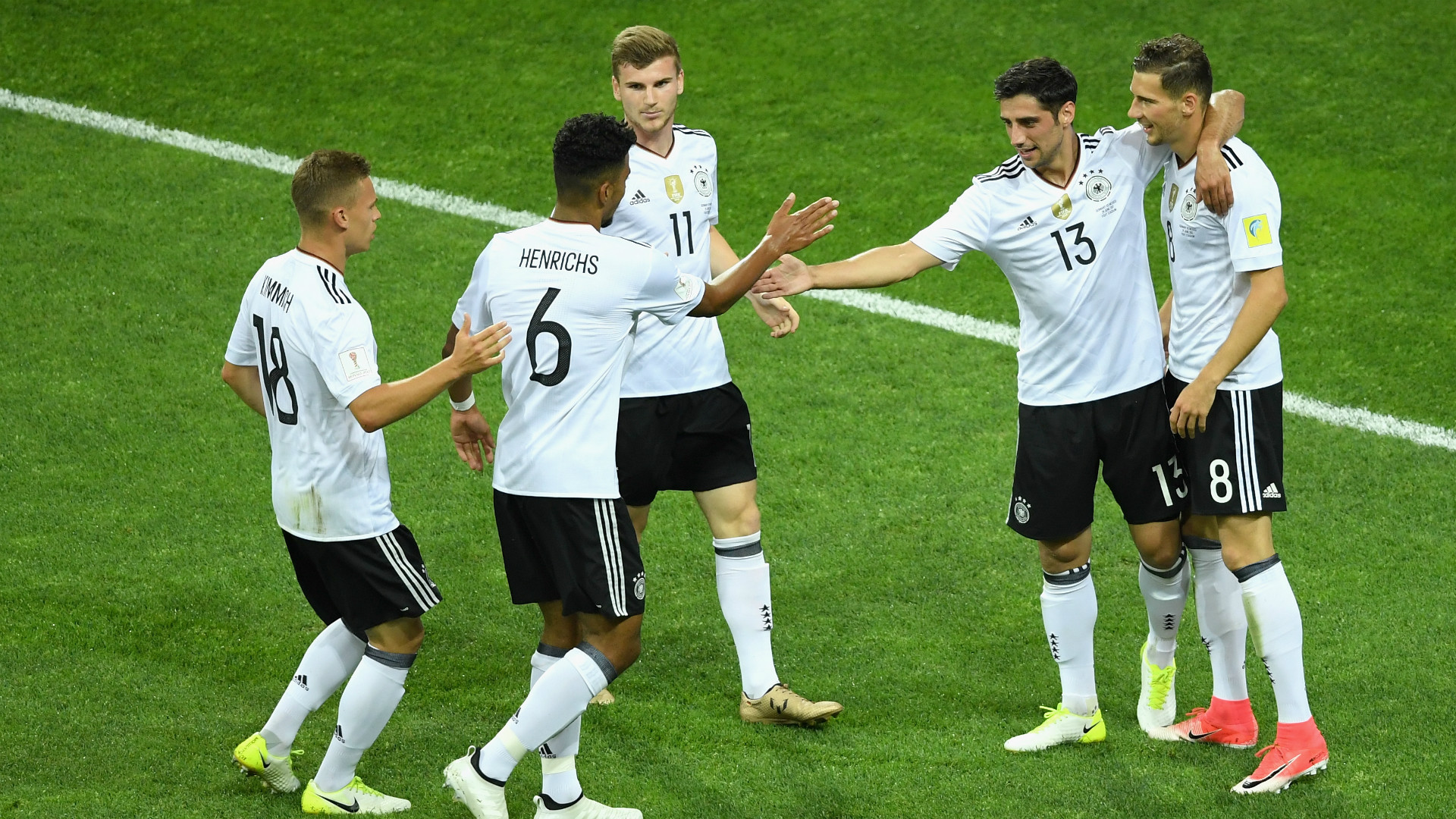 Germany celebrates Mexico Confederations Cup