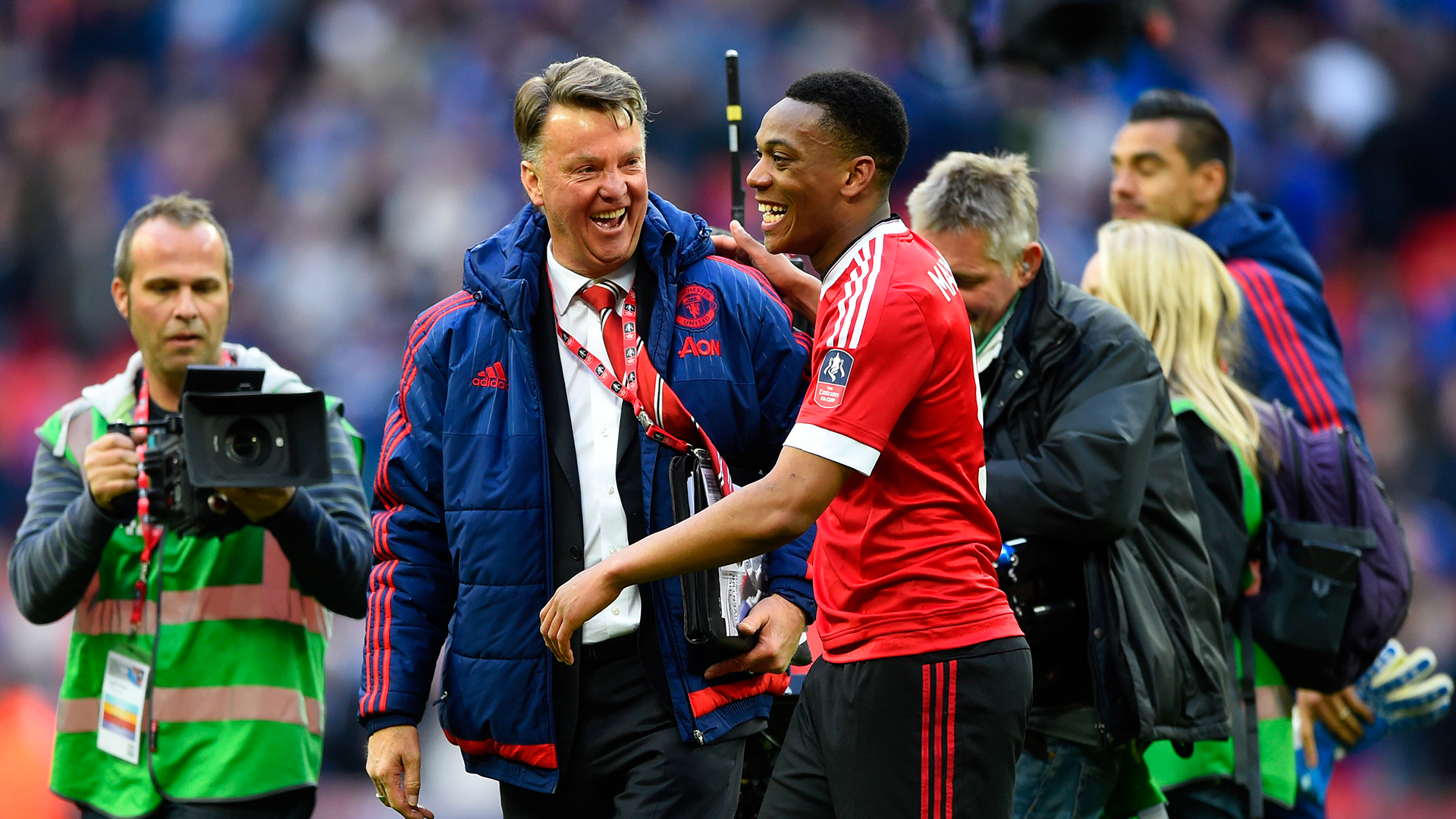 Anthony Martial Louis van Gaal Manchester United