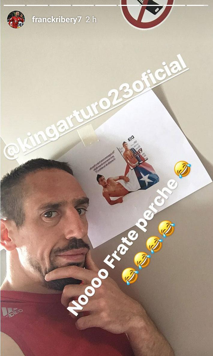 Ribery se burla de Vidal