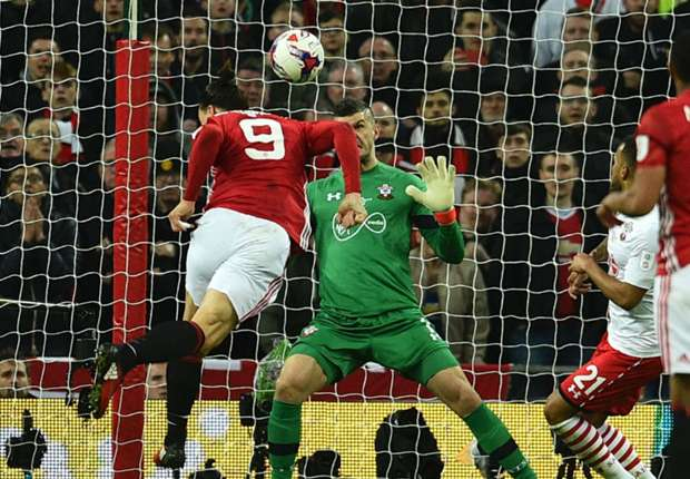 Manchester United 3-2 Southampton: Ibrahimovic winner secures League Cup for Jose Mourinho's men