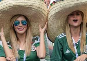 Come ogni grande torneo tra Nazionali, sugli spalti è spettacolo femminile: le fans di Cile, Messico e Russia fanno innamorare i tifosi.