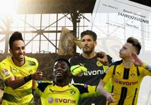 Die Saison 2016/17 ist für Borussia Dortmund nach dem Sieg im DFB-Pokalfinale vorbei. Welche Spieler haben überzeugt, welche Akteure enttäuscht? Das Goal-Spielerzeugnis.