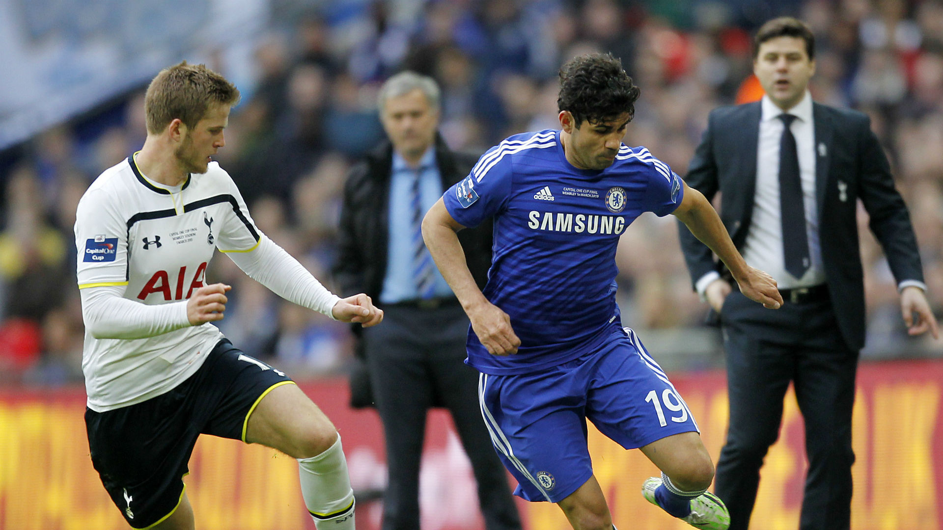 Eric Dier Tottenham Diego Costa Chelsea League Cup final 2015
