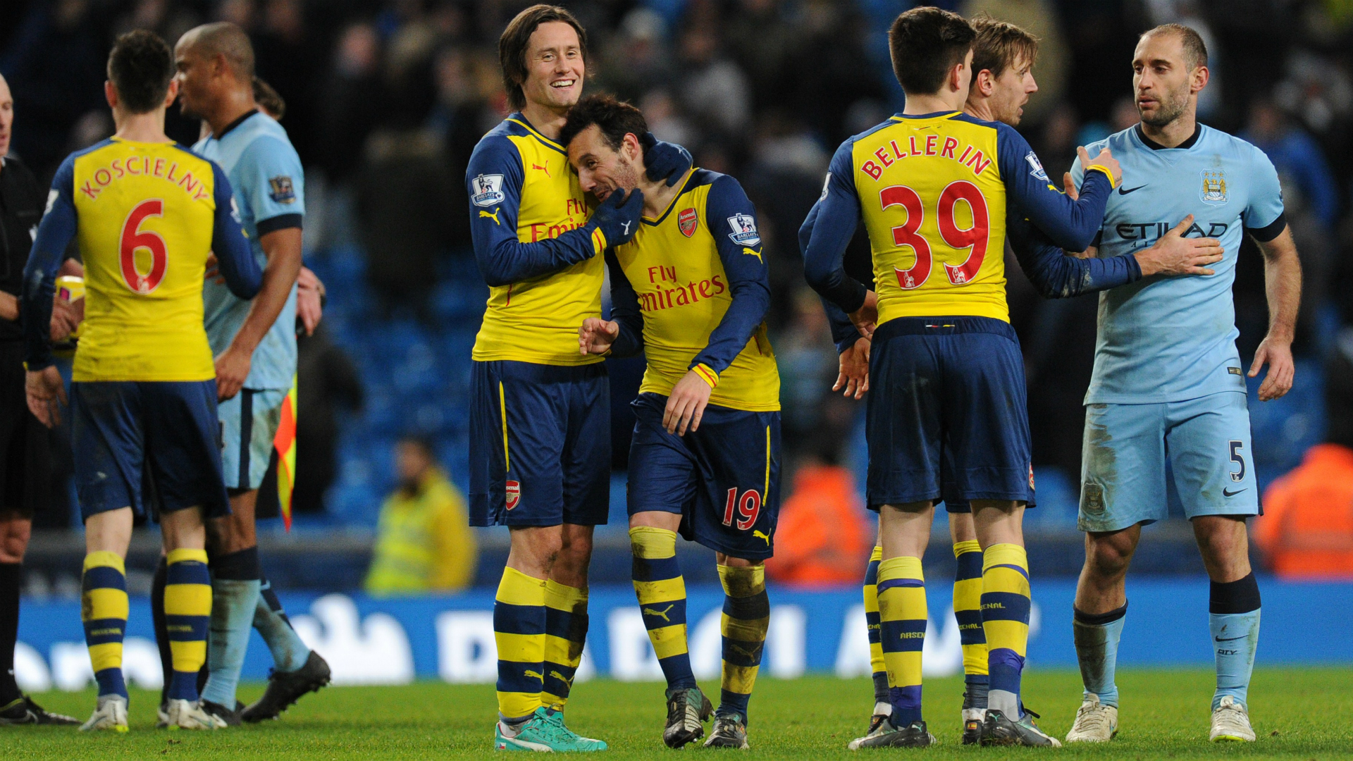 Cazorla Man City Arsenal 18012015