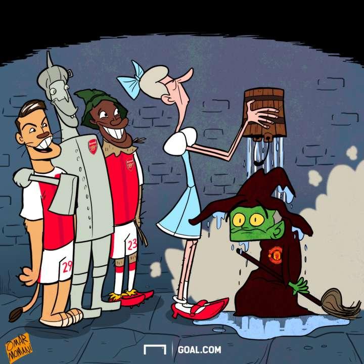 Cartoon Wenger ends Mourinho's curse