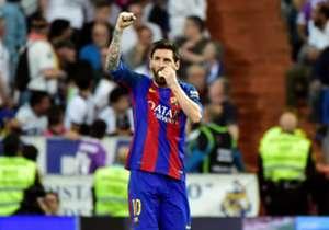 <i>Brace</i> ke gawang Real Madrid dalam kemenangan 3-2 Barcelona di El Clasico menggenapi koleksi gol Lionel Messi menjadi 500 untuk Blaugrana di semua kompetisi. Selain itu, ia juga membukukan enam gol untuk skuat B, lima bersama tim C, serta 58 gol ...
