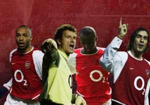Arsenal boleh saja loyo di musim ini, namun mereka selalu punya pelipur lara dengan mengenang skuat 'Invincible' di 2003/04. Ada deretan pemain kelas dunia dalam tim besutan Arsene Wenger itu. Simak!