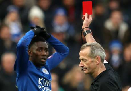 Wilfred Ndidi's red card was harsh